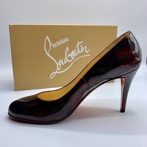 Christian Louboutin round toe red pumps heels 8.5